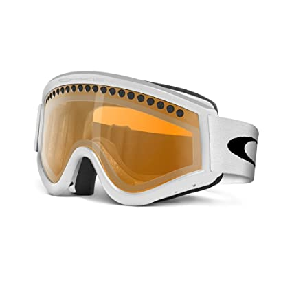 Oakley E-Frame Snow Goggle, Snow Matte White with Persimmon Lens ...