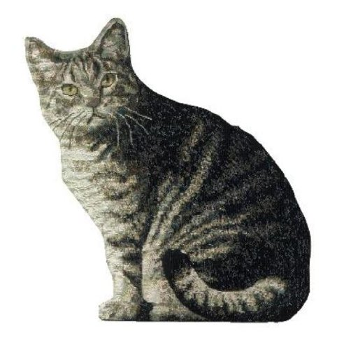 Manual Cat Shaped Pillow, 11 X - Shaped Cat Flowers