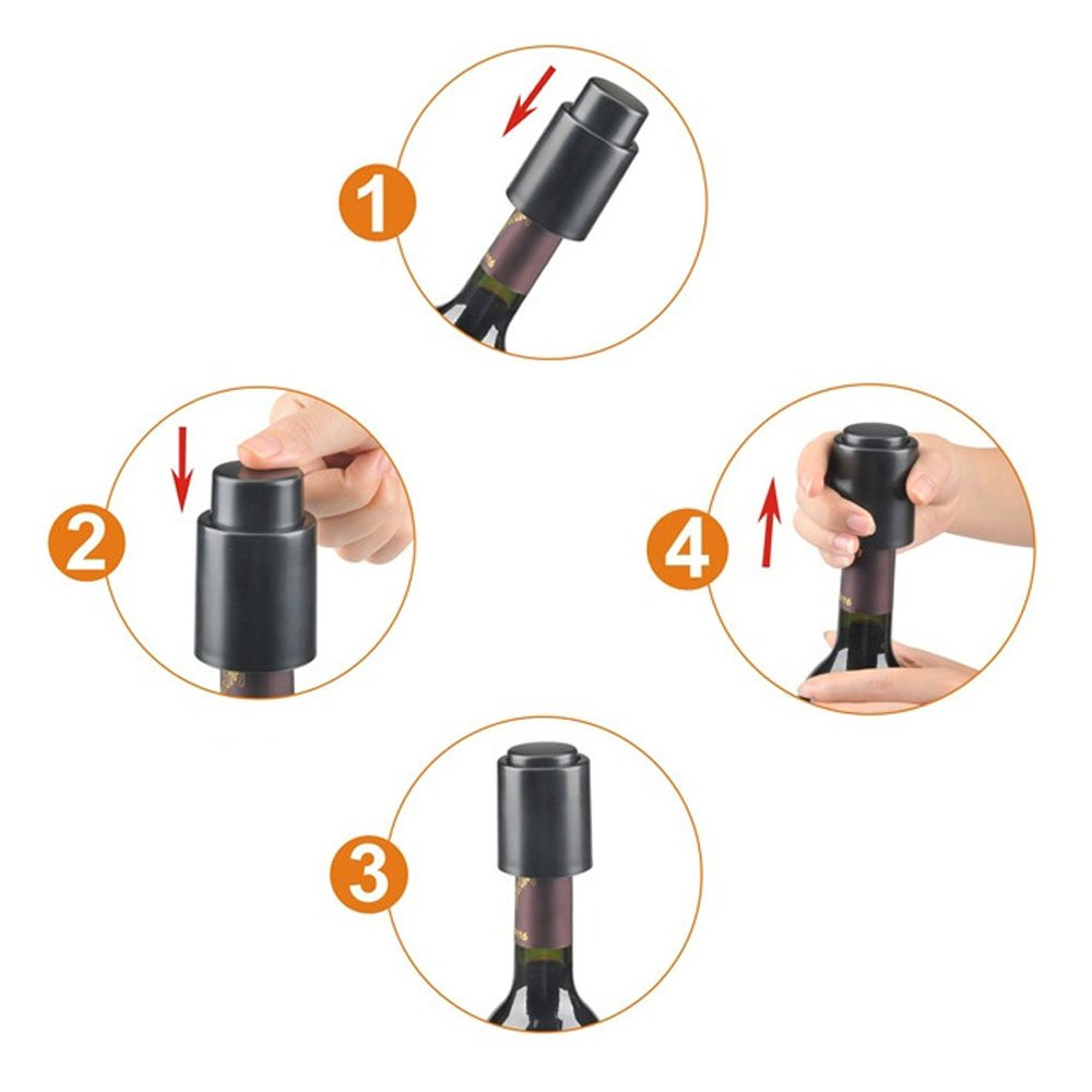 Guardians Vacuum Wine Bottle Stopper Seal Vacuum Bottle Stoppers for Life No Separate Pump Wine Bottle Stoppers