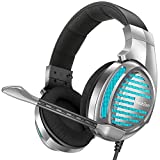 PeohZarr Gaming Headset Xbox One Headset PS4 Headset 7.1 Surround Sound, Noise Canceling Over Ear Headphones with Mic, LED Light, PC Gaming Headset Compatible with PS4, Xbox One, Switch, PC, Mac