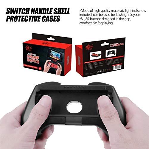VCB Grip Holder Cover Poign/ée aBS pour commutateur Gamepad Joy-Con Controller Noir Noir