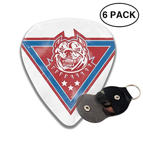 Celluloid Guitar Picks 3D Printed Pitbull Dog Best Guitar Bass Gift For Student