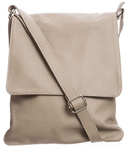 Taupe Light Bag Italian Body Leather Womens Real Messenger Big Soft Cross Handbag Shoulder Fcqp6P71