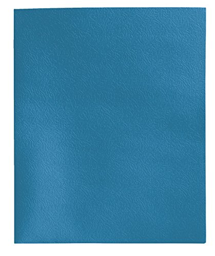 School Smart Heavy Duty 2 Pocket Portfolio with 3 Hole Fastener - 9 1/2 x 11 3/4 - 25 Pack - Light Blue