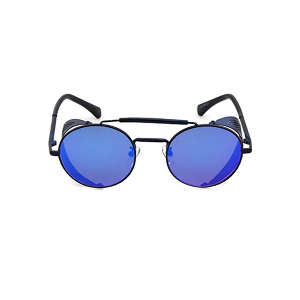Gafas De Sol Vigas De Doble Para Mujer Y Hombre Steampunk S/úper Ligero Marco Ronda De Metal Con Flip Barrera Lateral