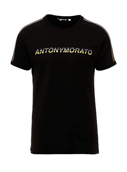 Antony Morato Camiseta Banda Negro para Hombre: Amazon.es: Ropa y ...