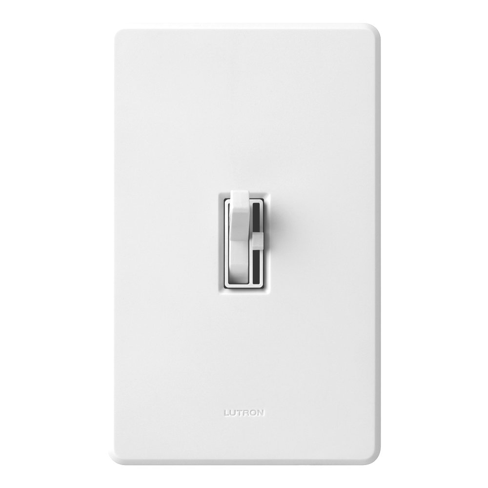Lutron Toggler C.L Dimmer Switch for dimmable LED, Halogen and Incandescent  Bulbs, Single-Pole or 3-Way, AYCL-153P-WH, White - Wall Dimmer Switches ...