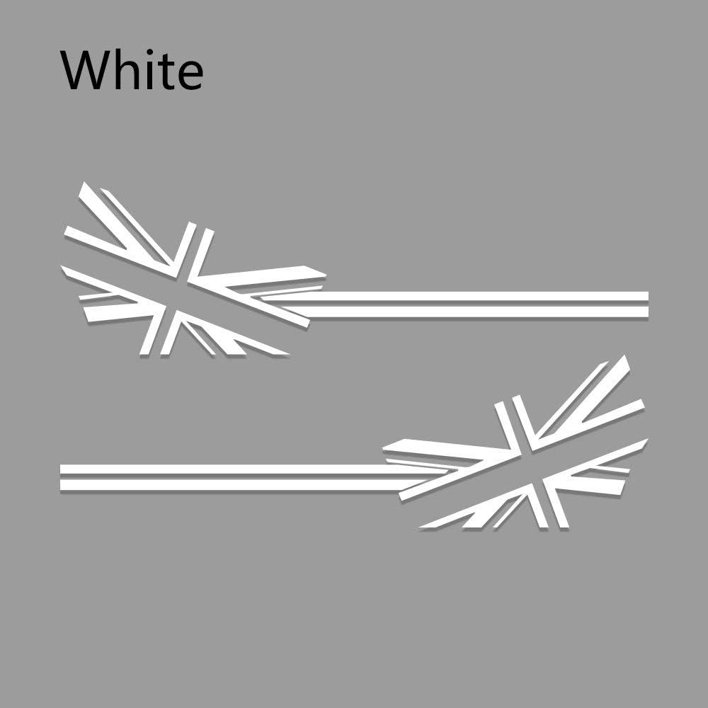 Zhangdan 2 Stücke Union Jack Auto Styling Tür Seite Körper Aufkleber Aufkleber Racing Stripes Zubehör Für Mini Cooper S R50 R55 R56 F56 F57 F60 Küche Haushalt