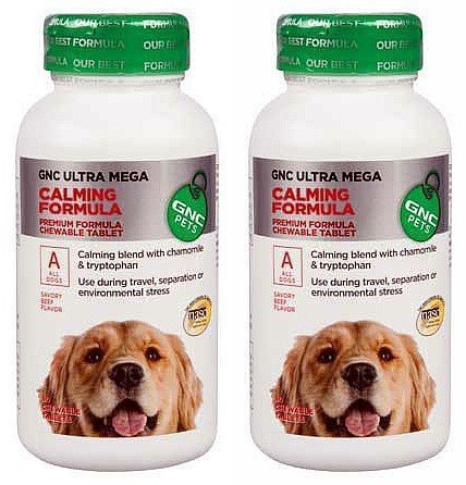 (GNC Pets Ultra Mega Calming Formula - All Dogs - Beef Flavor 180)