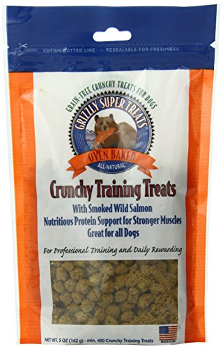 Grizzly Super Treats Crunchy Training Treats Smoked Salmon, .5 Ounces