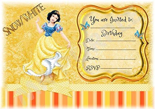 Disney Princess Snow White Birthday Party Invites
