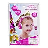 Disney Princess Kid Friendly Character Youth Headphones with Ariel from The Little Mermaid & Rapunzel from Tangled Graphics Built in Volume Limiting