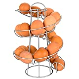 Southern Homewares SH-10159 Egg Skelter Deluxe Modern Spiraling Dispenser Rack, Silver