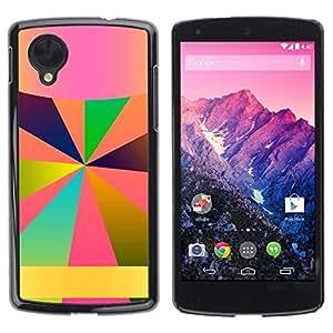 Be Good Phone Accessory // Dura Cáscara cubierta Protectora Caso Carcasa Funda de Protección para LG Google Nexus 5 D820 D821 // Android Name Here Lines