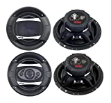 2)New Boss PC65.2C 6.5'' 500W 2-Way + 2) Boss P65.4C 6.5'' 400W 4-Way Car Speakers