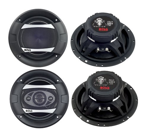 2)New Boss PC65.2C 6.5'' 500W 2-Way + 2) Boss P65.4C 6.5'' 400W 4-Way Car Speakers by BOSS Audio