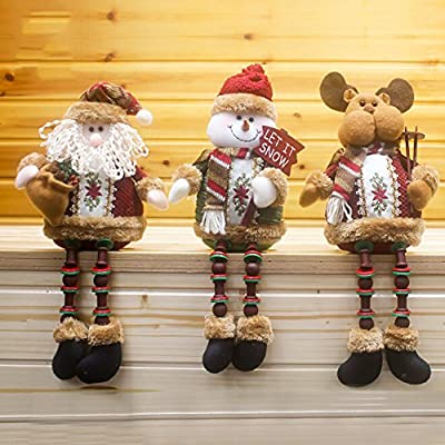 Gaosaili Christmas Standing Figurine Toy Xmas Home Indoor Table Ornament Decorations