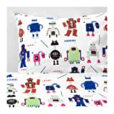 Ikea Lattjo Duvet Cover and Pillowcase Small Robots Multicolor 103.768.04