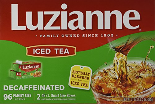 Luzianne Decaffeinated Iced Tea 96 Family Size Bags -