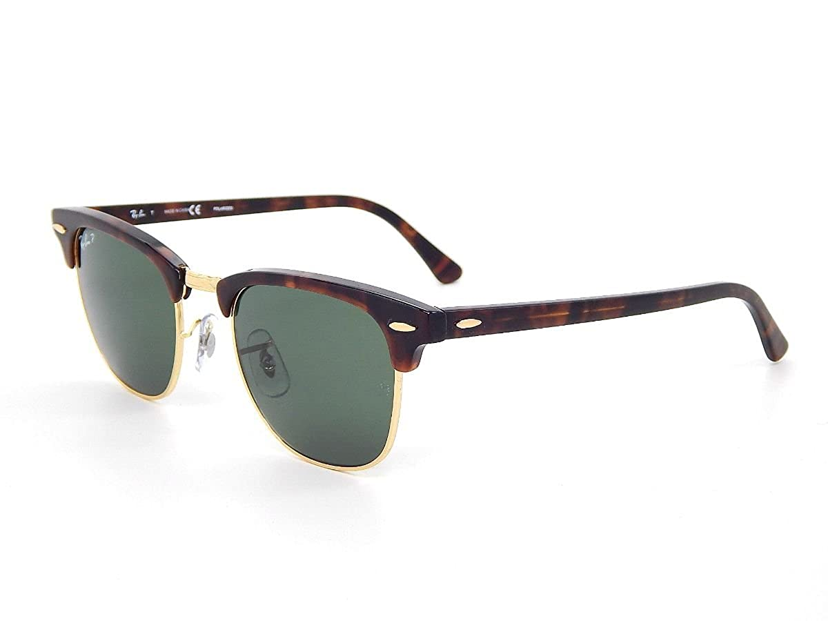 ffae13cac74d1 shop ray ban mens clubmaster polarized square sunglasses black 55.0 mm  471e0 603ba  italy amazon new ray ban rb3016 990 58 tortoise green classic  g 15 ...
