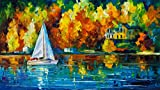 House of the Lake is a Limited Edition print from the Edition of 400. The artwork is a hand-embellished, signed and numbered Giclee on Unstretched Canvas by Leonid Afremov. Embellishment on each of these pieces will be slightly different, but the ima...