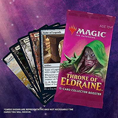Magic The Gathering Throne of Eldraine Bundle Gift Edition | Alternate Art | 10 Booster Pack | 1 Collector Booster | Accessories: Toys & Games