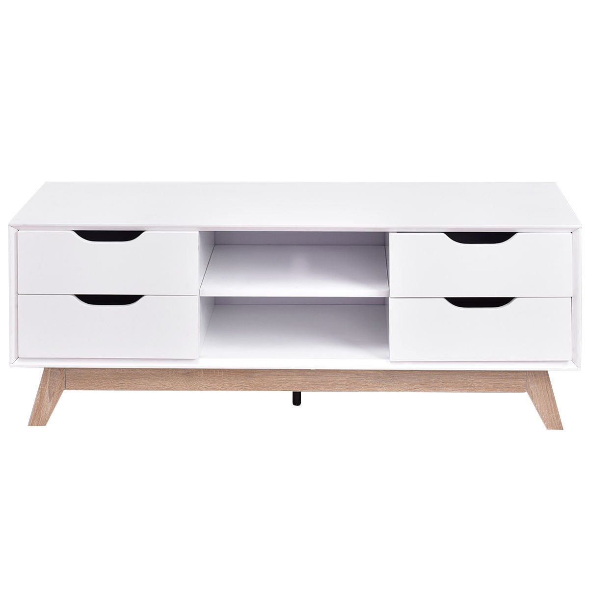 TV Stand Entertainment Center Console Storage Cabinet Drawer and Shelves w/ Legs