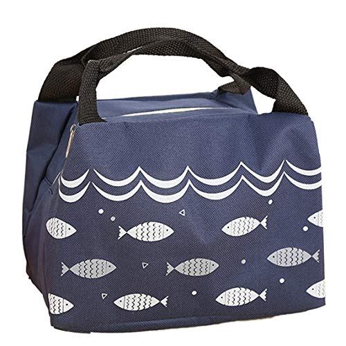 Chelsea Thicken Aluminum Foil Bento Bag Fish Pattern Heat Preservation Lunch Box Bag