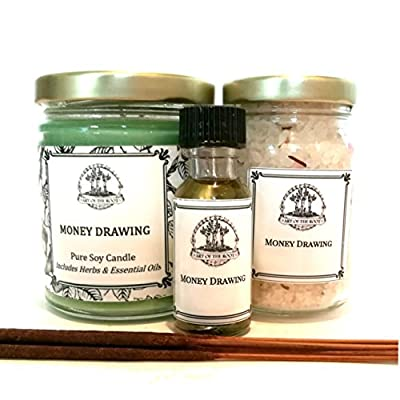 Money Drawing Spell Kit for Cash, Prosperity, Success, Financial Security & Abundance Wiccan Pagan Hoodoo Conjure