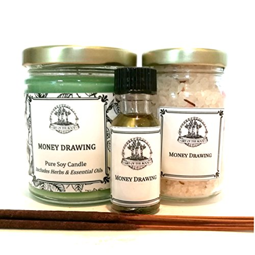Money Drawing Spell Kit for Cash, Prosperity, Success, Financial Security & Abundance Wiccan Pagan Hoodoo (Money Drawing Herbs)