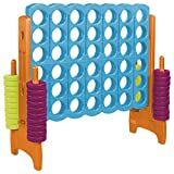 ECR4Kids Jumbo 4-To-Score Game Set - Giant Sized Fun for Kids and Adults - 4 Feet Tall, Vibrant Colors