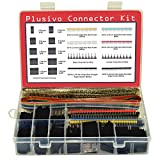 Dupont Connector Kit - 1004 pcs Crimp Connector Kit with Dupont Wire Connectors and Ribbon Cable - A Set of Male and Female 2.54 mm Dupont Connectors and Crimp Pins from Plusivo