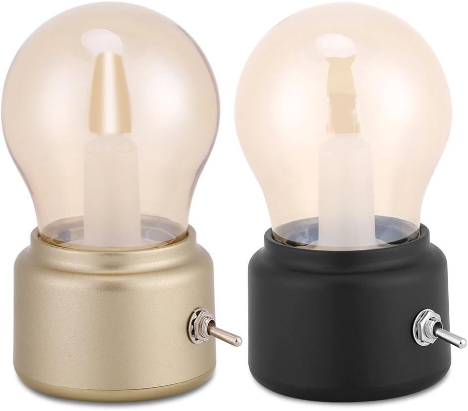 Fdit LED Bombilla de Cabecera con USB Mini L/ámpara de Iluminaci/ón Suave de Escritorio LED L/ámpara de Mesa L/ámpara Peque/ña para Habitaciones Negro