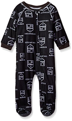 NHL Los Angeles Kings Infant Boys Sleepwear All Over Print Zip Up Coveralls, 18 Months, Black