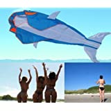 "Let""s Go Fly a Kite! 3D Big Whale Frameless Parafoil Kite Outdoor Beach Park Garden Fun"