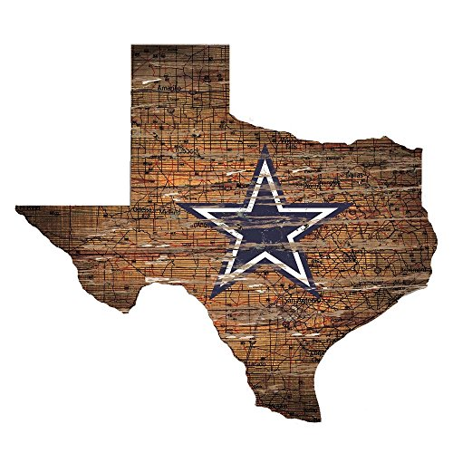 Fan Creations Dallas Cowboys State Shape Sign, Multi ()