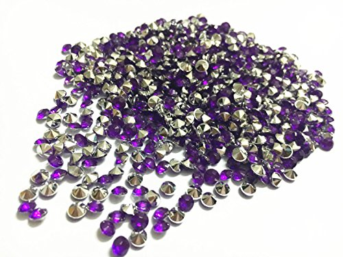 Briliant Shop 4.5mm Acrylic Color Faux Round Diamond Crystals Treasure Gems for Table Scatters, Vase Fillers, Event, Wedding, Arts & Crafts (10000 pcs) (Purple & Silver)