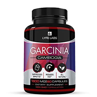 Garcinia Cambogia, Garcinia Cambogia Extract, HCA Garcinia Cambogia - 60 Garcinia Cambogia Weight Loss Capsules by Lyfe Labs - Promotes Weight Loss, Improved Metabolism, Raised Energy, Suppressed App
