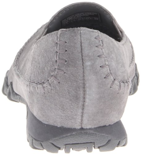 Donna basso Scarpe Pedestrian Grey Charcoal Skechers Bikers a collo wHqfnHvCT