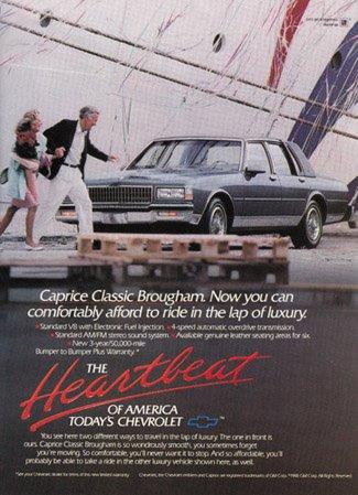 Print Ad: 1989 Chevrolet Caprice Classic Brougham
