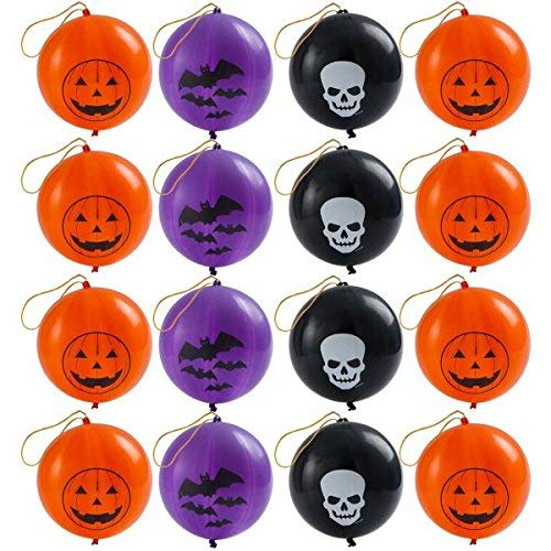 amscan Creepy Halloween Ghoulish Punch Balloon Party Supplies | 32 Count (2 Mega Value Packs) | Great as Trick-or-Treat and Horror House Decoration