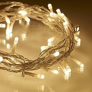 Guirnalda luminosa de 40 LEDs de luz blanca cálida de Lights4fun