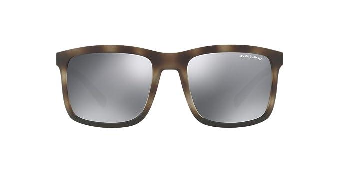 b94a4de4d2 Armani Exchange - anteojos de sol cuadradas para hombre inyectadas sin  polarizar, color gris mate