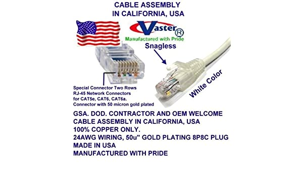 UL 24Awg Pure Copper White SuperEcable -20678-35 Ft UTP Cat5e Ethernet Network Patch Cable