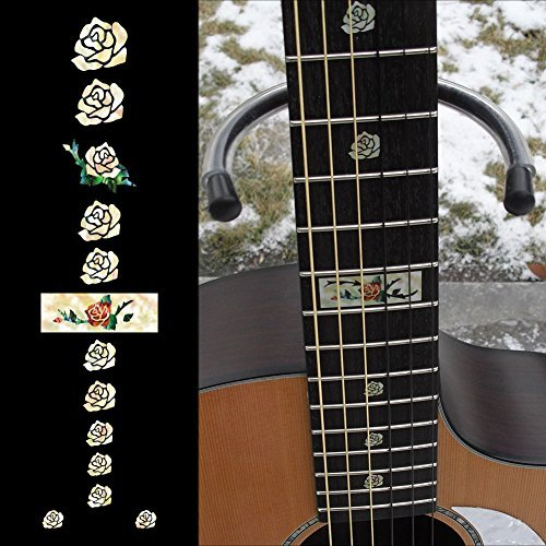 (Fretboard Markers Inlay Sticker Decals for Guitar and Bass - Rose)