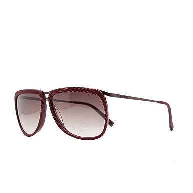 885df950f9d Lacoste - Lunette de soleil - Femme Rouge bordeaux One Size  Amazon ...