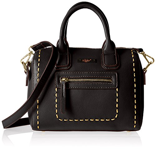 Black Bag Boston - Nikky Women's Structured Mini Black Boston Bag Cross Body, One Size