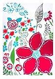MUkitchen 100% Cotton Oversized Designer Kitchen Towel, 20 by 30-Inches, Wildflowers