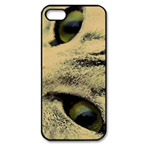 Posing Cat Watercolor style Cover iPhone 5 and 5S Case (Pets Watercolor style Cover iPhone 5 and 5S Case)