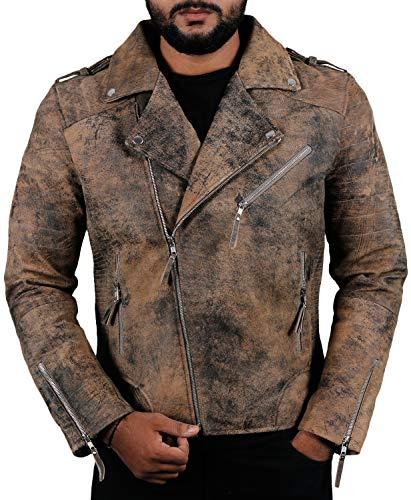 Laverapelle Men's Genuine Lambskin Leather Jacket (Lamb-Jungle, Medium, Polyester Lining) - - Leather Lamb Vest